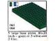 Set No: 061  Name: 5 large base plates - Green