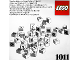 Set No: 1011  Name: LEGO Number/Symbol Blocks (Number bricks and symbols for wall board)