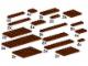 Set No: 10150  Name: Assorted Brown Plates
