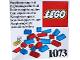 Set No: 1073  Name: Supplementary Set Roofing bricks