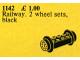 Set No: 1142  Name: Wheel Bricks with Small Black Train-Wheels