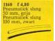 Set No: 1160  Name: Pneumatic Tubing 600 mm Gray and 1000 mm Black