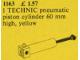 Set No: 1163  Name: Pneumatic Piston Cylinder (6cm)