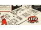 Set No: 1200  Name: LEGO Town Plan Board, Small Plastic