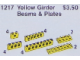 Set No: 1217  Name: Girder Beams and Plates, Yellow
