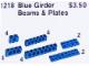 Set No: 1218  Name: Girder Beams and Plates, Blue