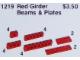 Set No: 1219  Name: Girder Beams and Plates, Red