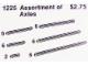 Set No: 1225  Name: Assortment of Axles