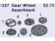 Set No: 1227  Name: Gear Wheel Assortment