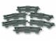 Set No: 2735  Name: Curved Rails (Dark Gray)