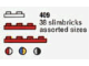 Set No: 409  Name: 38 Slimbricks Assorted Sizes (The Building Toy)