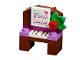 Set No: 41353  Name: Advent Calendar 2018, Friends (Day 14) - Piano with Music Sheet with Notes Tree Ornament