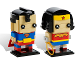 Set No: 41490  Name: BrickHeadz Superman & Wonder Woman - San Diego Comic-Con 2016 Exclusive