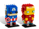 Set No: 41492  Name: BrickHeadz Iron Man & Captain America - San Diego Comic-Con 2016 Exclusive