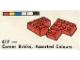 Set No: 417  Name: Corner Bricks, Assorted Colours