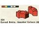 Set No: 424  Name: Curved Bricks, Assorted Colours (6)