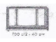 Set No: 700.C.2  Name: Individual 1 x 6 x 3 3-Pane Window (with glass)