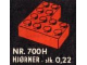 Set No: 700.H  Name: Individual 4 x 4 Corner Bricks