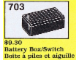 Set No: 703  Name: Battery Box/Switch