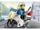 Set No: 7235  Name: Police Motorcycle - Black/Green Sticker Version