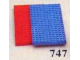 Set No: 747  Name: Baseplates, Red and Blue