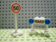 Set No: 7904  Name: Advent Calendar 2006, City (Day 17) Police Barricade and Speed Limit Sign