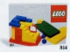 Set No: 814  Name: Baseplates, Green, Red and Yellow