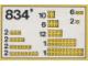 Set No: 834  Name: Yellow Bricks Parts Pack