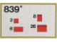 Set No: 839  Name: Red Roof Bricks Parts Pack, 33 Degree