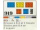 Set No: 919  Name: 31 bricks with 2, 4 and 6 studs