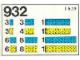 Set No: 932  Name: Blue and Yellow Bricks