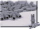 Set No: 970012  Name: Gray Connector Peg (Pack of 100)