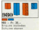 Set No: 980  Name: 23 sloping bricks, including roof peak bricks, Blue