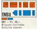 Set No: 981  Name: 34 sloping profile bricks, including profile peak bricks, Blue