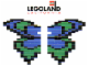 Set No: LLCA32  Name: Butterfly - Blue / Green Wings (LLCA Ambassador Pass Exclusive)