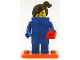 Set No: col18  Name: LEGO Brick Suit Girl, Series 18 (Complete Set with Stand and Accessories)