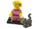 Set No: colsim2  Name: Lisa Simpson with Bright Pink Dress and Snowball - Complete Set