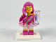 Set No: coltlm2  Name: Candy Rapper, The LEGO Movie 2 (Complete Set with Stand and Accessories)