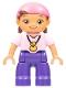 Minifig No: 47394pb163  Name: Duplo Figure Lego Ville, Never Land Pirates, Izzy