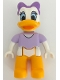 Minifig No: 47394pb236  Name: Duplo Figure Lego Ville, Daisy Duck, Lavender Top, Bright Light Orange Legs