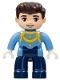 Minifig No: 47394pb241  Name: Duplo Figure Lego Ville, Disney Princess, Cinderella's Prince Charming, Reddish Brown Hair