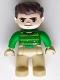 Minifig No: 47394pb243  Name: Duplo Figure Lego Ville, Sandman