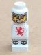 Minifig No: 85863pb002  Name: Microfig Lava Dragon Knight White