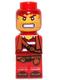 Minifig No: 85863pb021  Name: Microfigure Pirate Plank Pirate Red