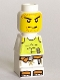 Minifig No: 85863pb024  Name: Microfigure Magma Monster White