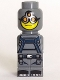 Minifig No: 85863pb027  Name: Microfigure Magma Monster Dark Bluish Gray