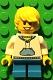 Minifig No: LLP004  Name: LEGOLAND Park Boy, Hooded Sweatshirt with Medium Blue Pocket and Drawstring Front, Yellow Hair