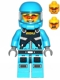 Minifig No: ac015  Name: Alien Defense Unit Soldier 5 (Battle Pack - Dark Bluish Gray Belt Pattern Printed)