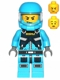 Minifig No: ac016  Name: Alien Defense Unit Soldier 6 (Battle Pack - Dark Bluish Gray Belt Pattern Printed)