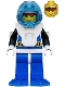 Minifig No: aqu001a  Name: Aquanaut 1 with Blue Flippers